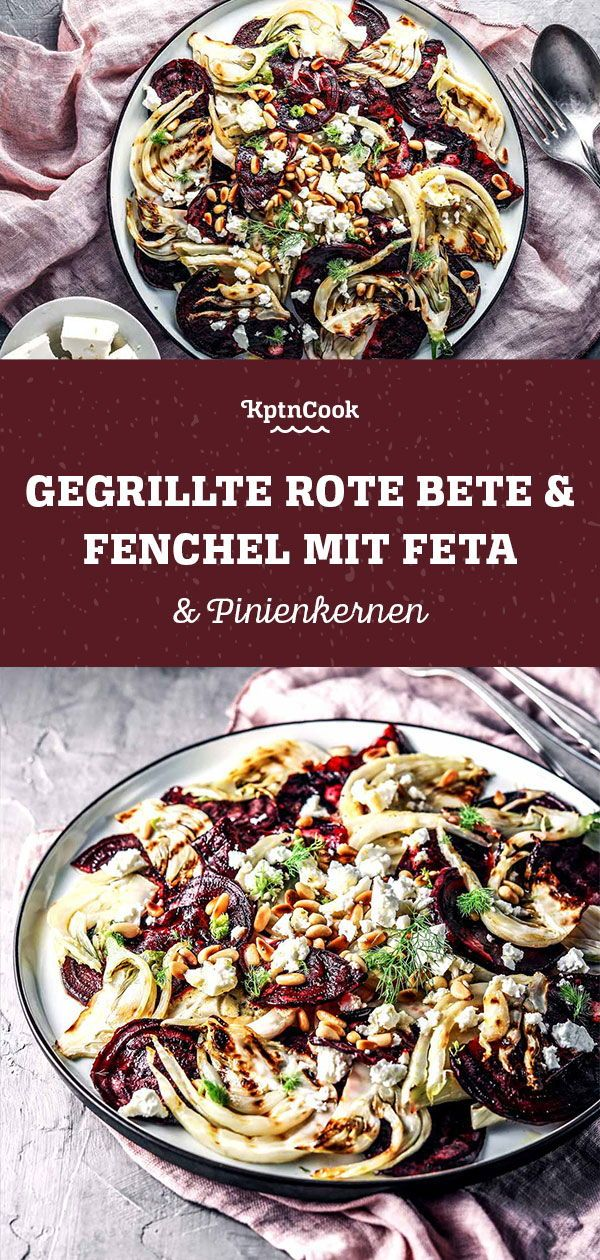 Photo of Grilled beetroot & fennel with feta and pine nuts