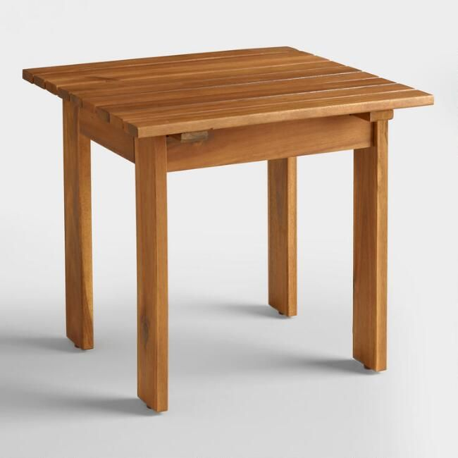 Natural Adirondack Side Table V1 Outdoor Patio Side Table