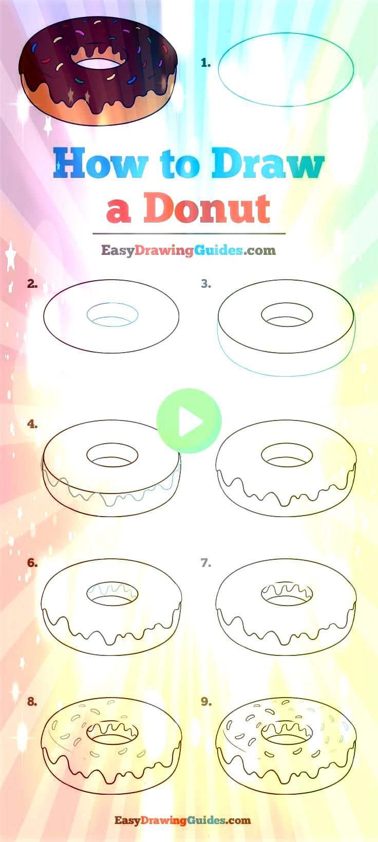 to Draw a Donut How to Draw a Donut iDeas Pencil People How to Draw a Donut iDeas Pencil People  Easy Drawing Tips In 2019 20 Easy Drawing Tutorials for Beginners  Cool T...