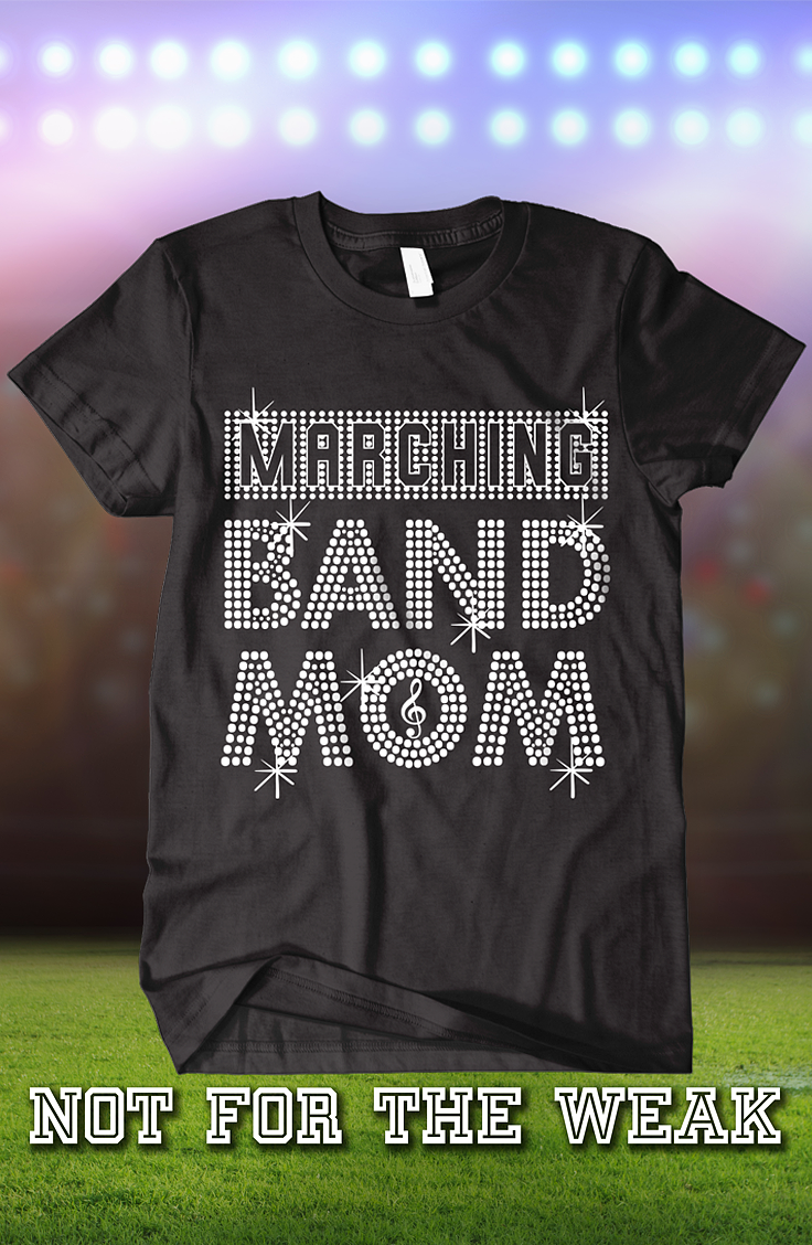 08efb483f Great Marching Band MOM t-shirt for Football season. Printed, ship and sold  by AMAZON.COM. Satisfaction guaranteed