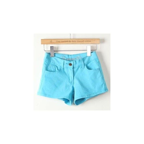 Plain Shorts (€13) ❤ liked on Polyvore featuring shorts, women, aqua shorts and jvl