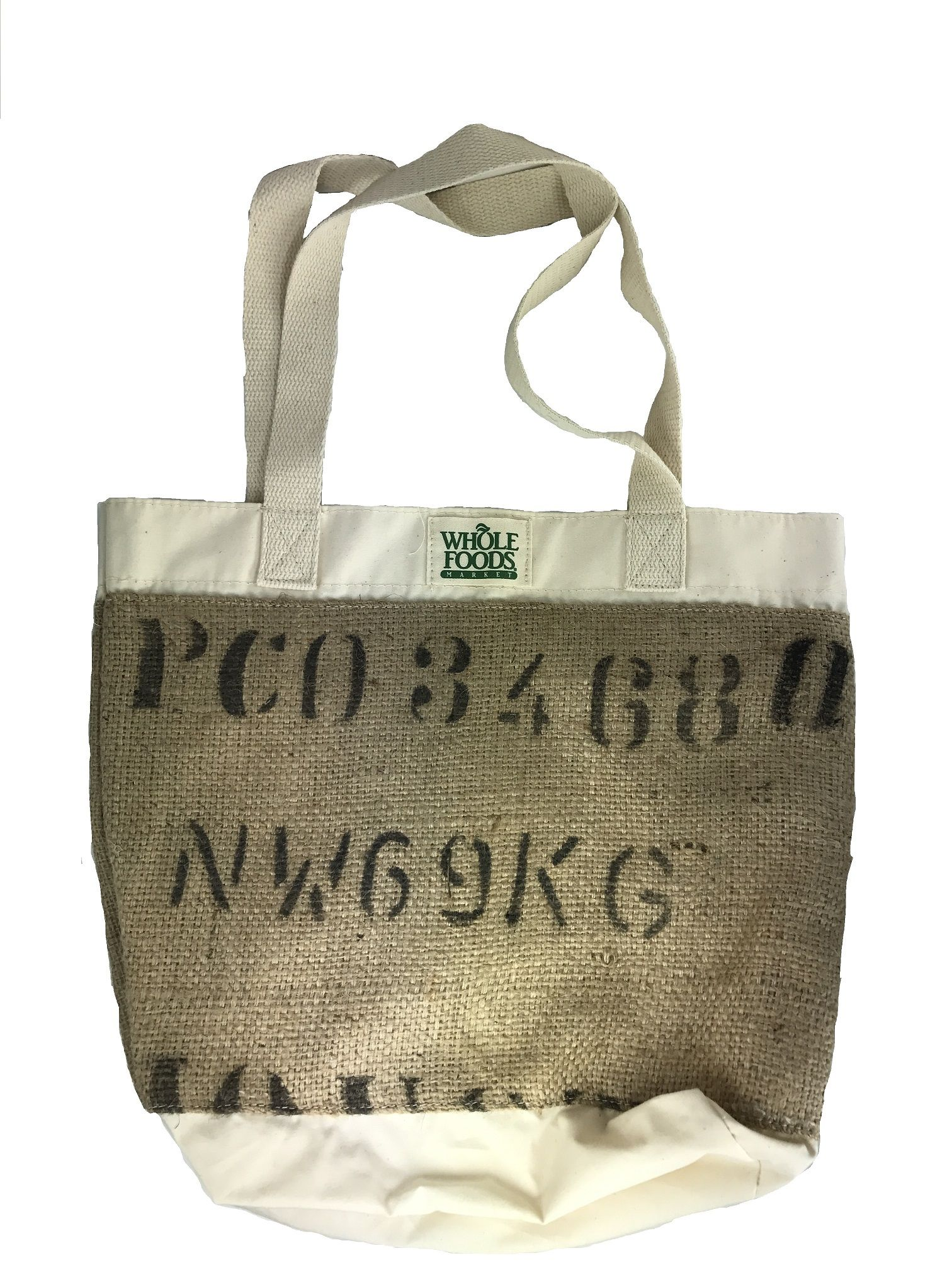 Whole Foods Burlap Ping Tote New Never Been Used 14 Tall 16