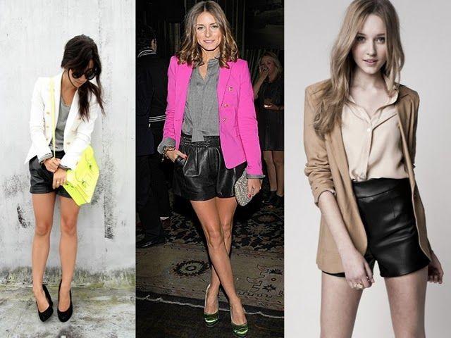 Rockin' leather shorts
