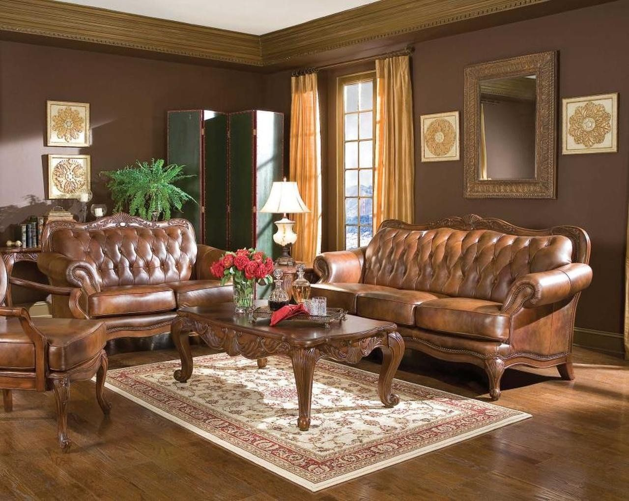 Traditional Living Room Furniture Coaster Victoria Traditional Tri Tone Two Piece Living Room In 2020 Living Room Leather Living Room Sofa Set Leather Living Room Set #two #piece #living #room #sets