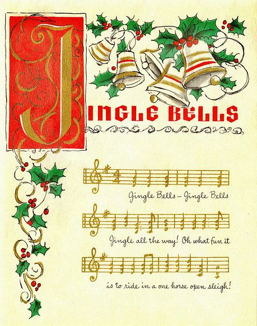 Jingle bells, jingle bells, jingle all the way! #vintage #Christmas #cards