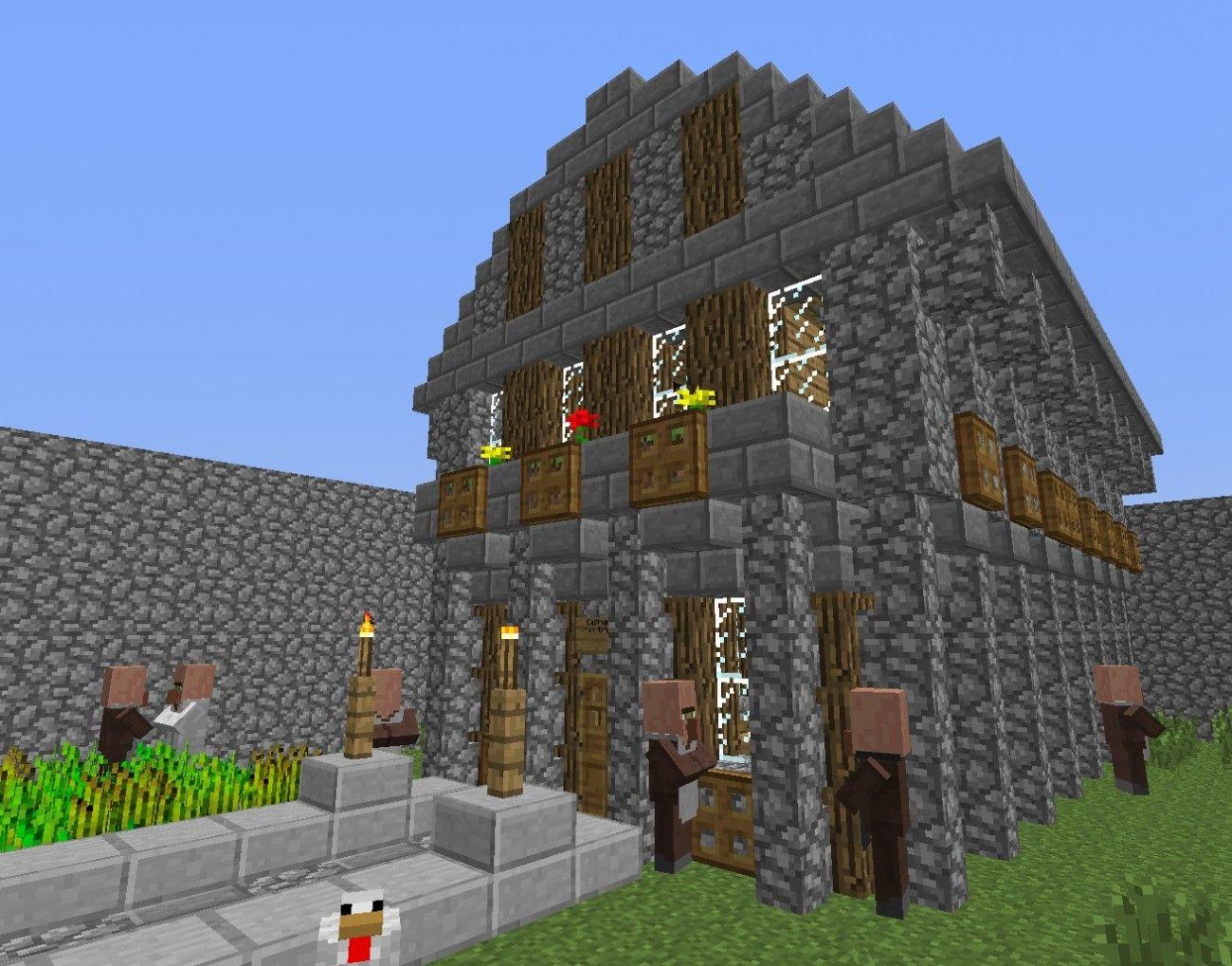 Minecraft Hauser Zum Nachbauen Einfach Mit Mittelalter Haus In Minecraft Bauen Minecraft Bauideen De 20 Und Mittela In 2020 Mittelalter Haus Minecraft Bauen Haus Bauen