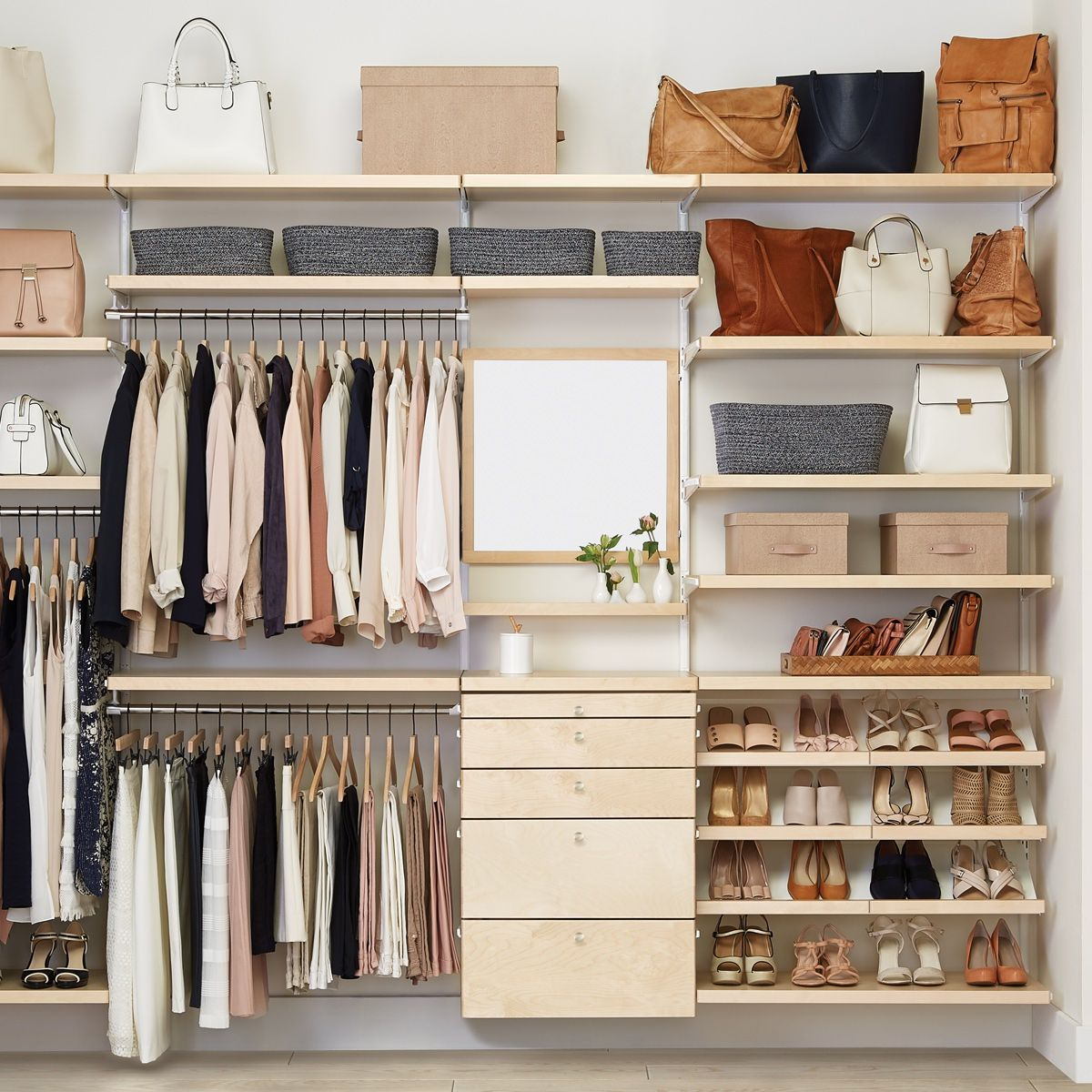 Getting Dressed Just Got More Fun Design A Custom Closet Solution Based On Your Budget And Your Space No Closet Solutions Closet Decor Closet Remodel