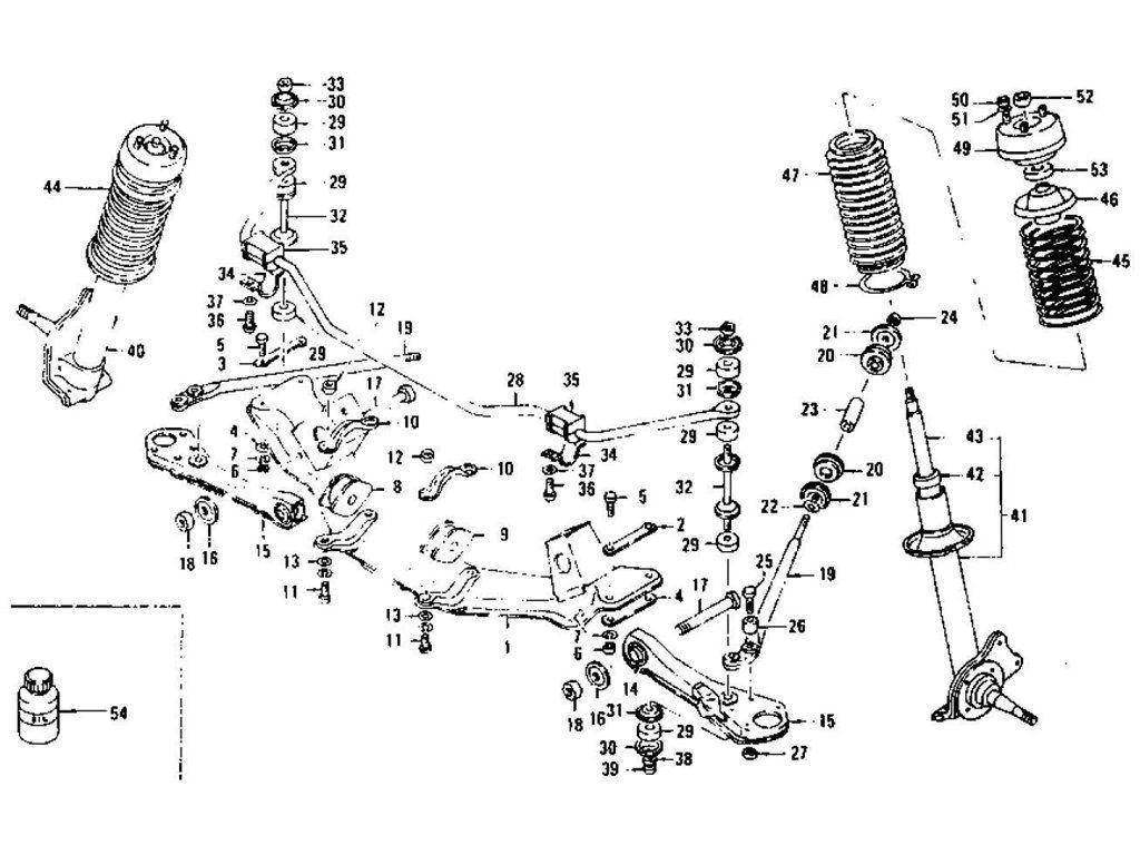 Front Suspension Strut Shock Absorber Datsun Datsun 240z