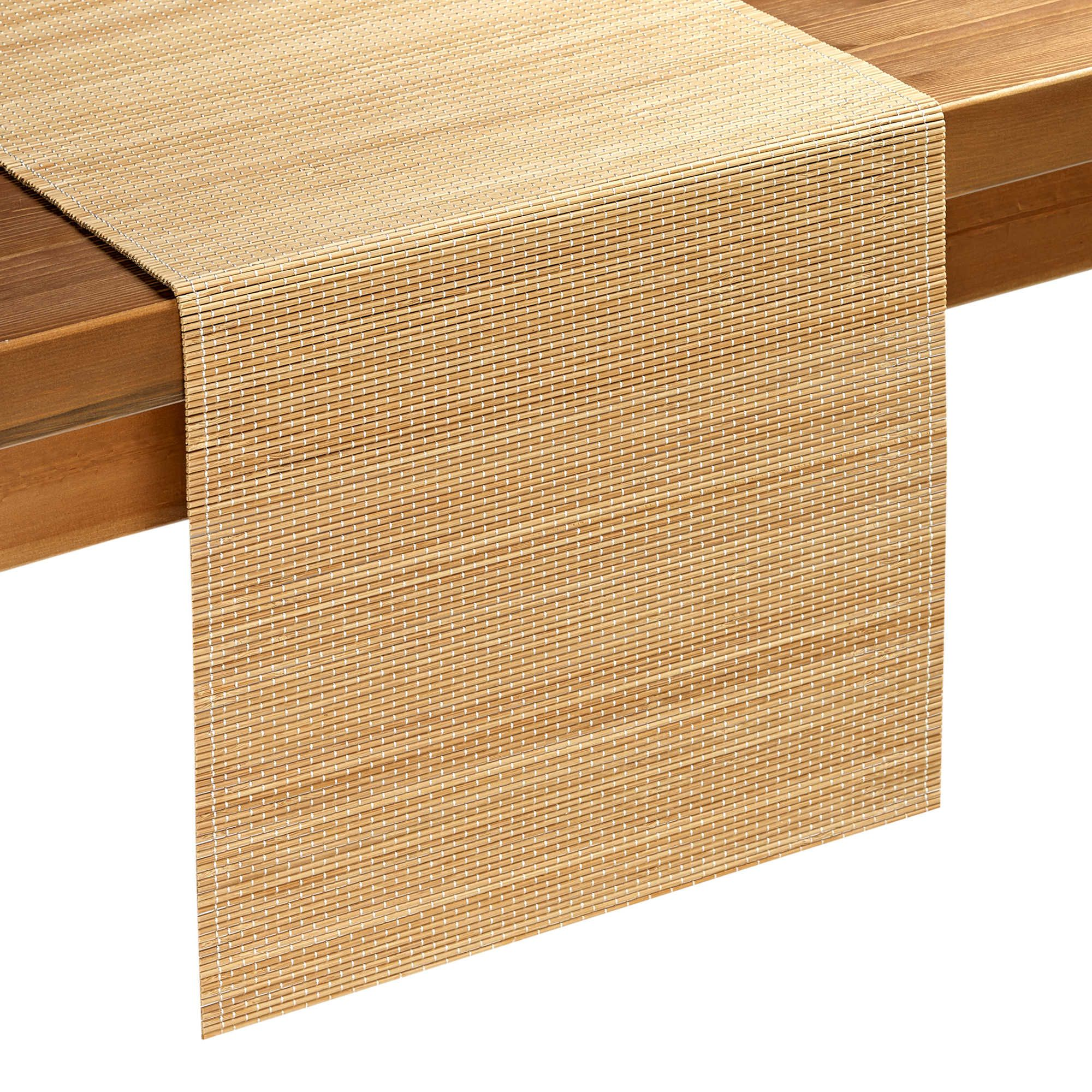 Bamboo Table Runner In Natural Bamboo Table Runner Bamboo
