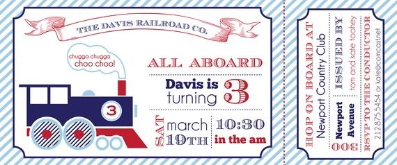 train birthday invitation printable trains invitations and