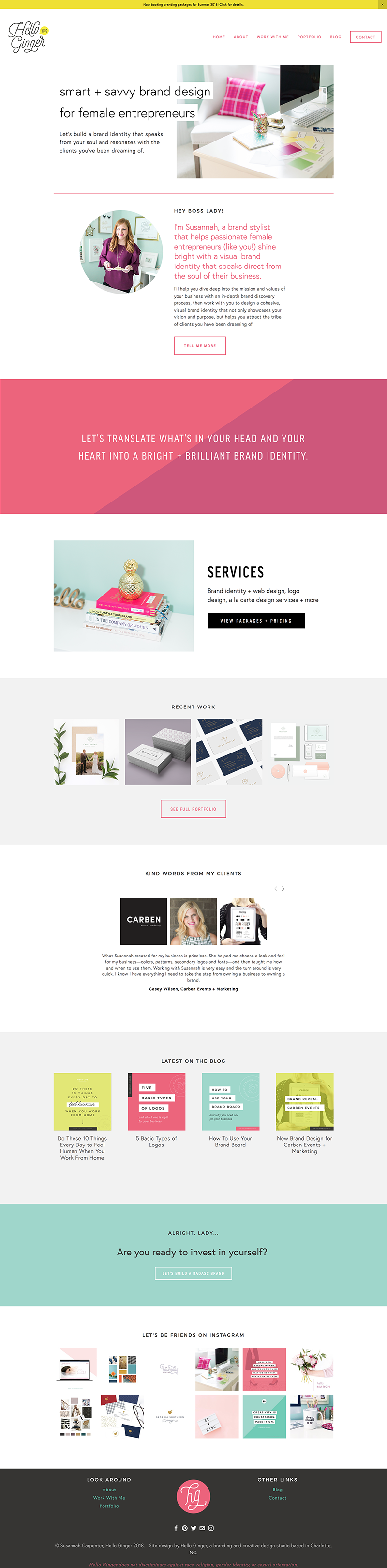 How To Create Colored Background Sections In Squarespace Hello Ginger Branding Web Design Squarespace Web Design Design