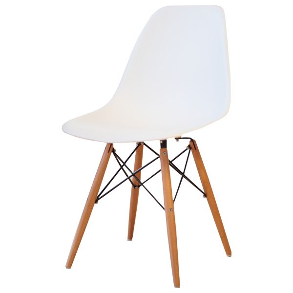 Delightful Eames DSW PP Polypropylene White Shell Chair Dining Chair