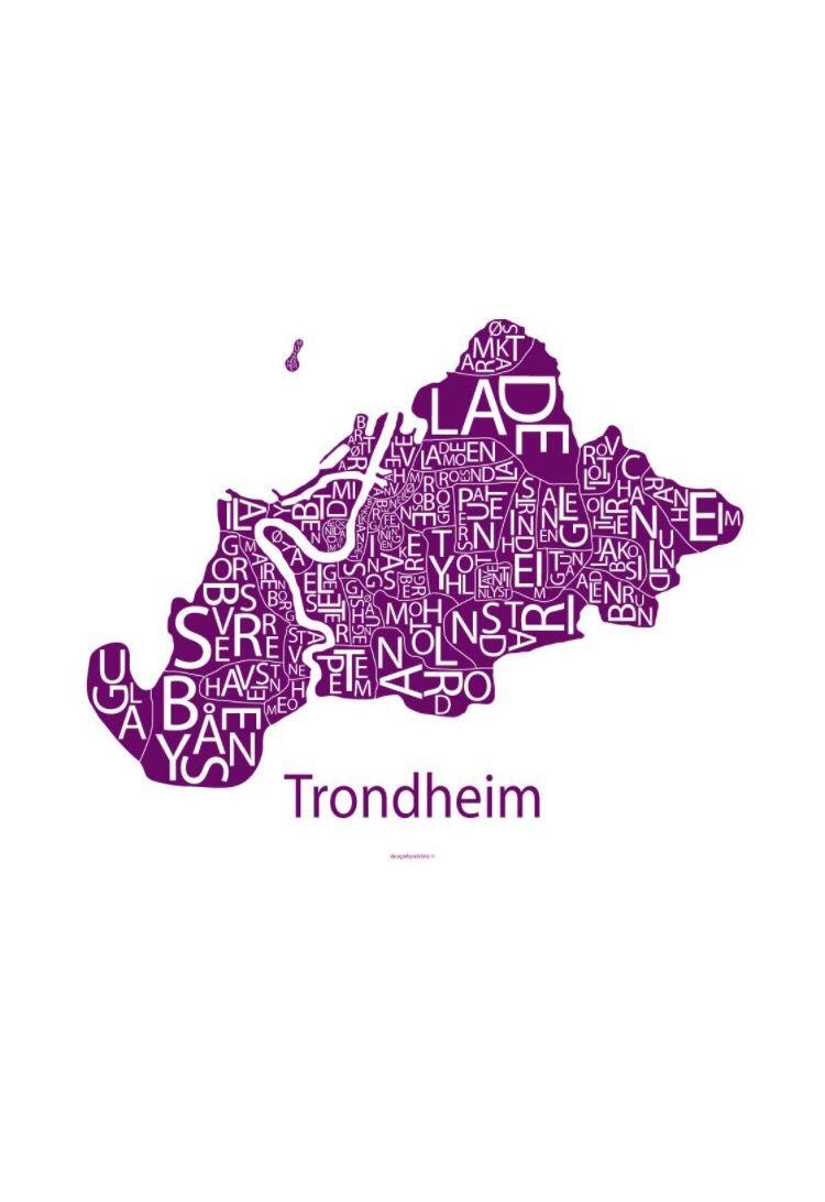 Teondheim, Norway #Art #Poster - Design by Odd