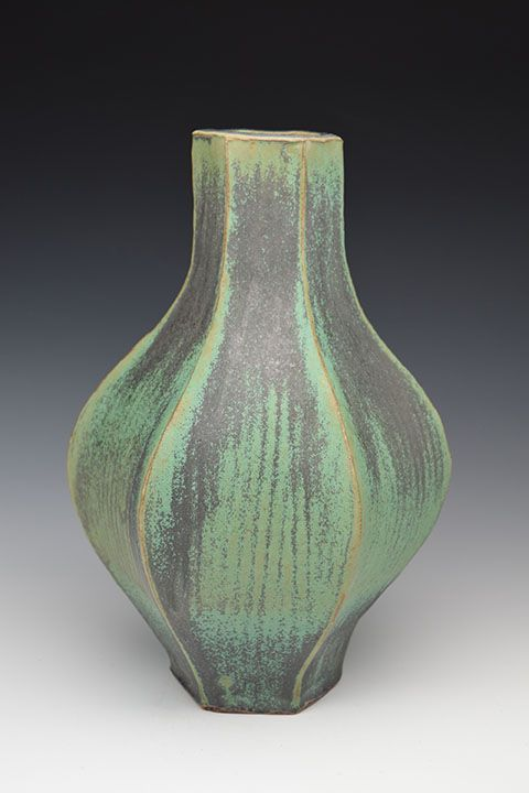 Green Vase by Joe Singewald will be on display at Northern Clay Center's Jerome Show. Opening Reception: Friday, January 15, 2016, 6 – 8 pm
