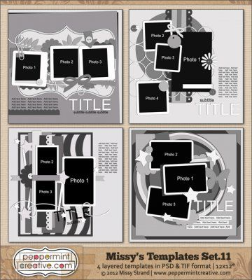 Missy's Templates Set.11 @Missy Carlson-Strand