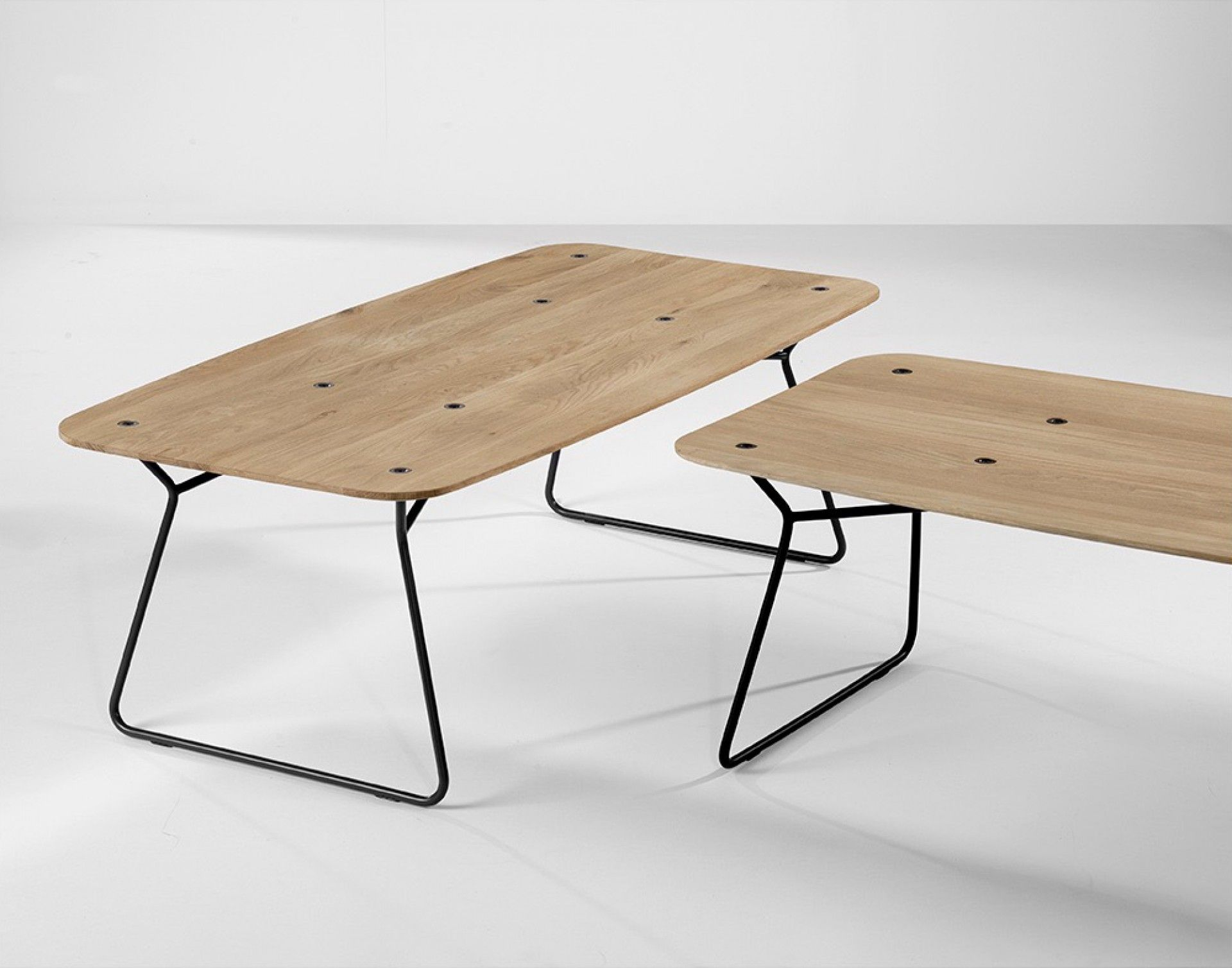 Universo positivo | Y - coffee table | metal, oak | 120 W x 60 D x 40 H cm | design by Jonas Wahlström