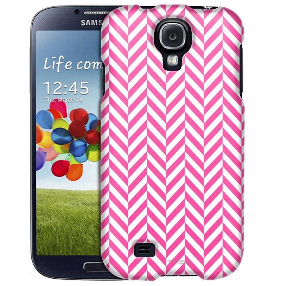 Samsung Galaxy S4 Chevron Mini Pink White Slim Case