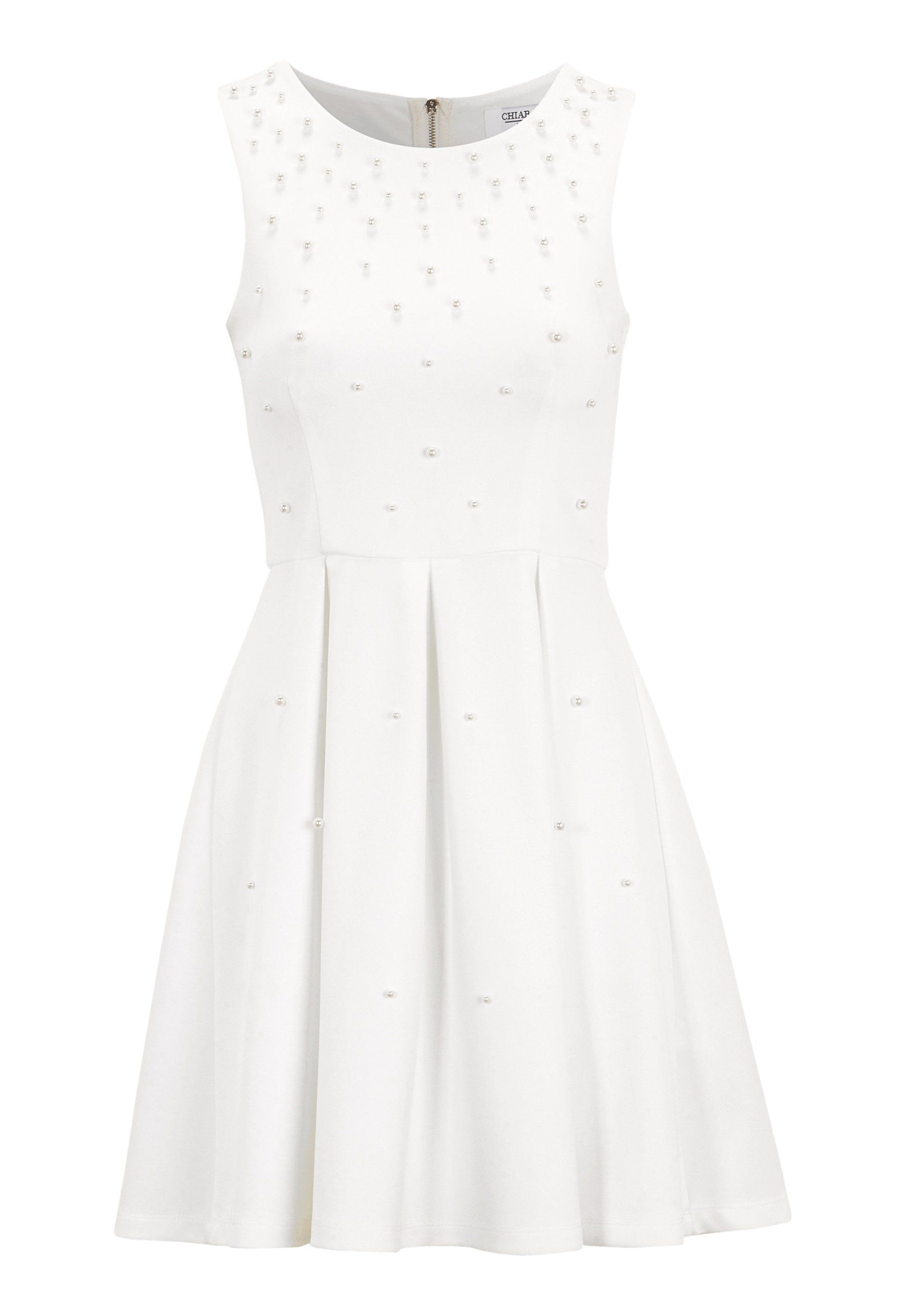 71a922cd Chiara Forthi Marla pearl dress White - Bubbleroom   studentkläder ...