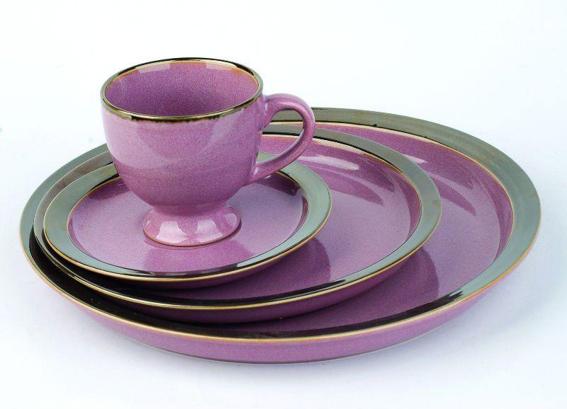 16pcs shining glazing purple ceramic dinnerware set buy dinnerware setpurple dinnerware setceramic dinnerware set product on alibabacom - Dishware Sets