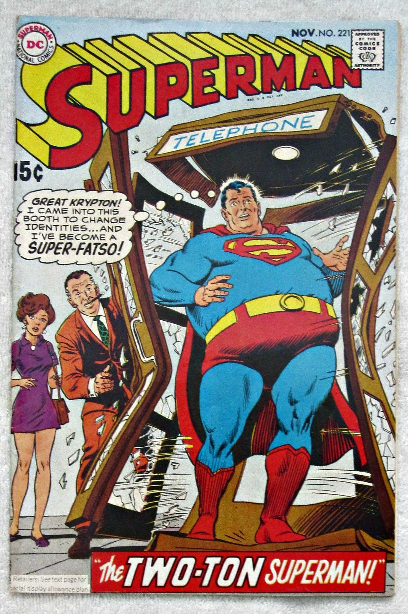 Superman #221 (Nov 1969, DC) Fine 6.0