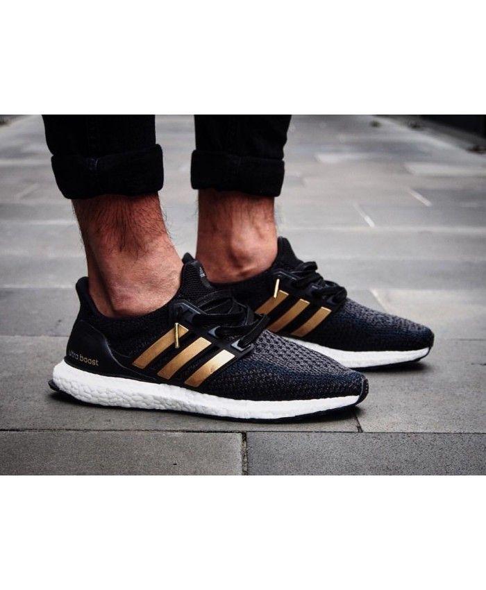 6fe68d77a2dce Adidas Ultra Boost Mens Black Gold