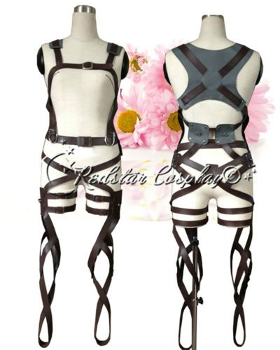 Attack on Titan Shingeki No Kyojin New Belts and Harness Cosplay Straps Skirt | eBay - $66.00