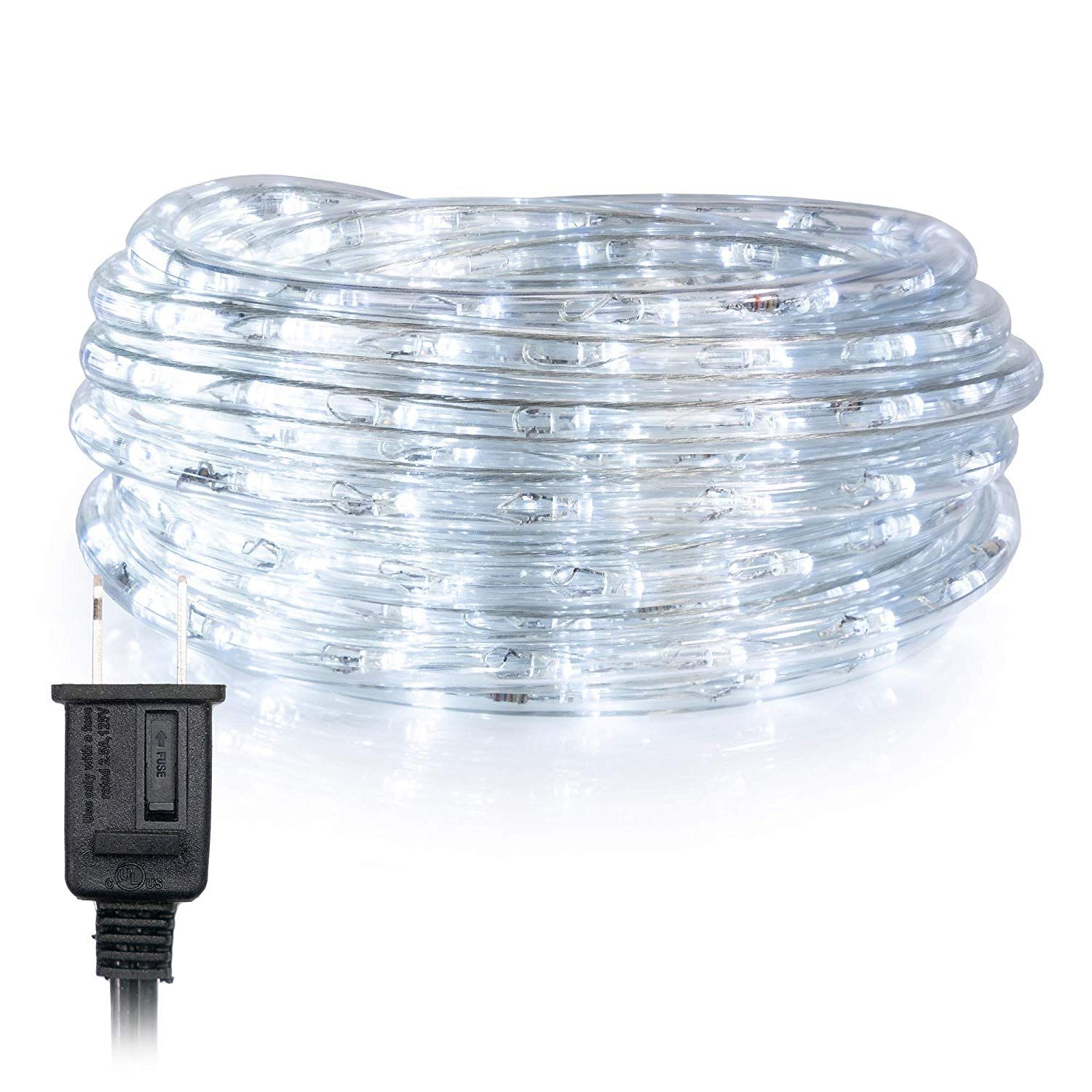 Wyzworks 100 Feet Cool White 3 8 Led Rope Lights Ul And Etl Certified Ip65 Water Resistant Fl Indoor Outdoor Lighting Outdoor Lighting Diy Outdoor Lighting