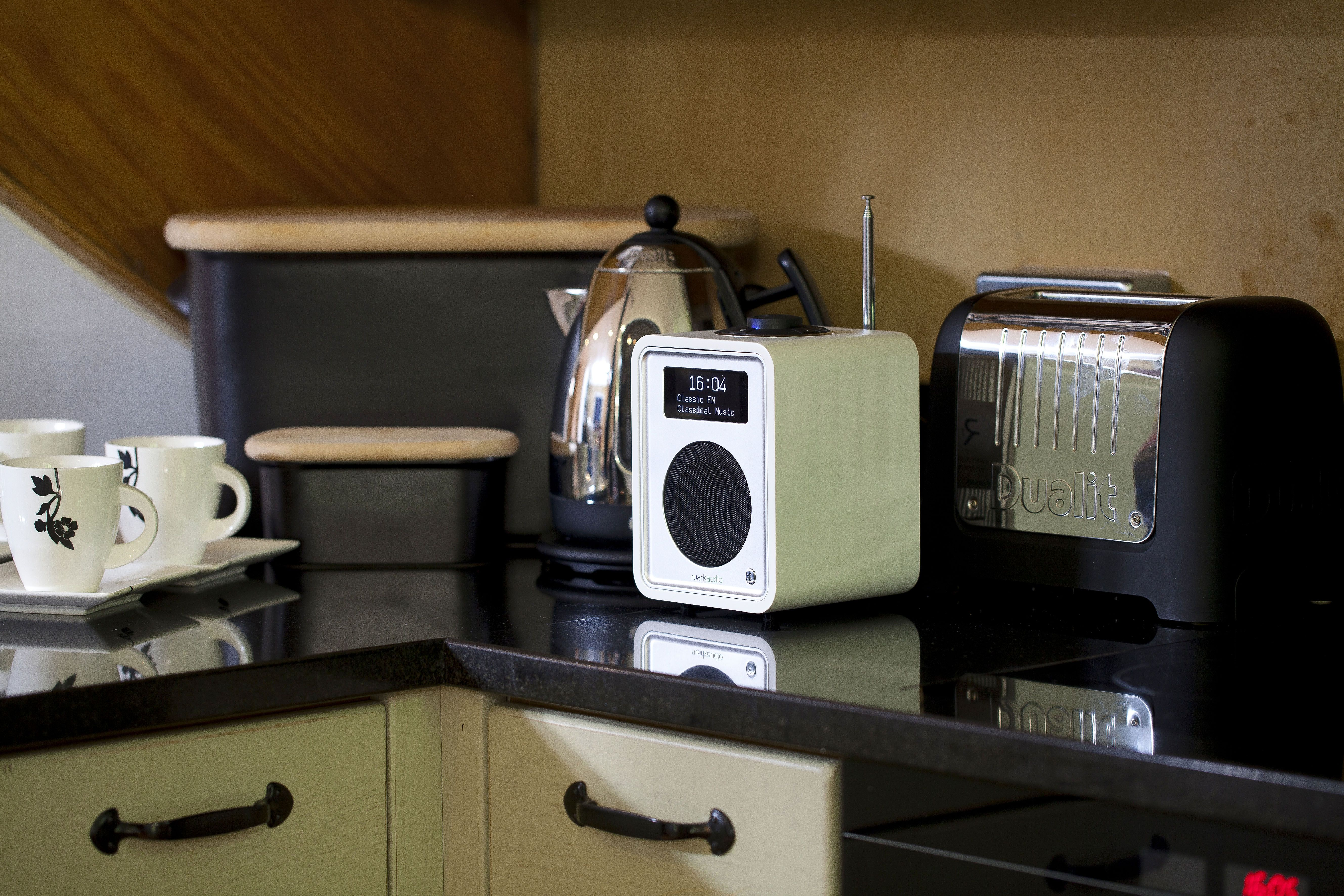 perfect kitchen radio the ruark r1 mk3 in soft white award winning sound to request a brochure visit wwwruarkaudiocom - Kitchen Radio