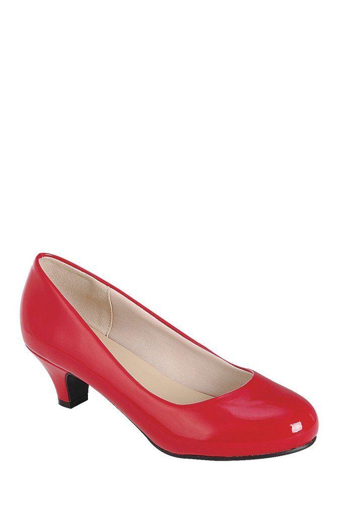 Ladies Red High Heel Pump Kitten Heel Sizes 5 5 And 6 Fashion High Heels Red High Heel Pumps Pumps Heels