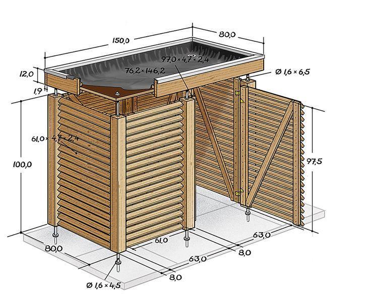 Voulez Vous Construire Un Bac Vous Meme Pas De Probleme Nous Avons Le Ca Abris De Jardin Design Abris Poubelle