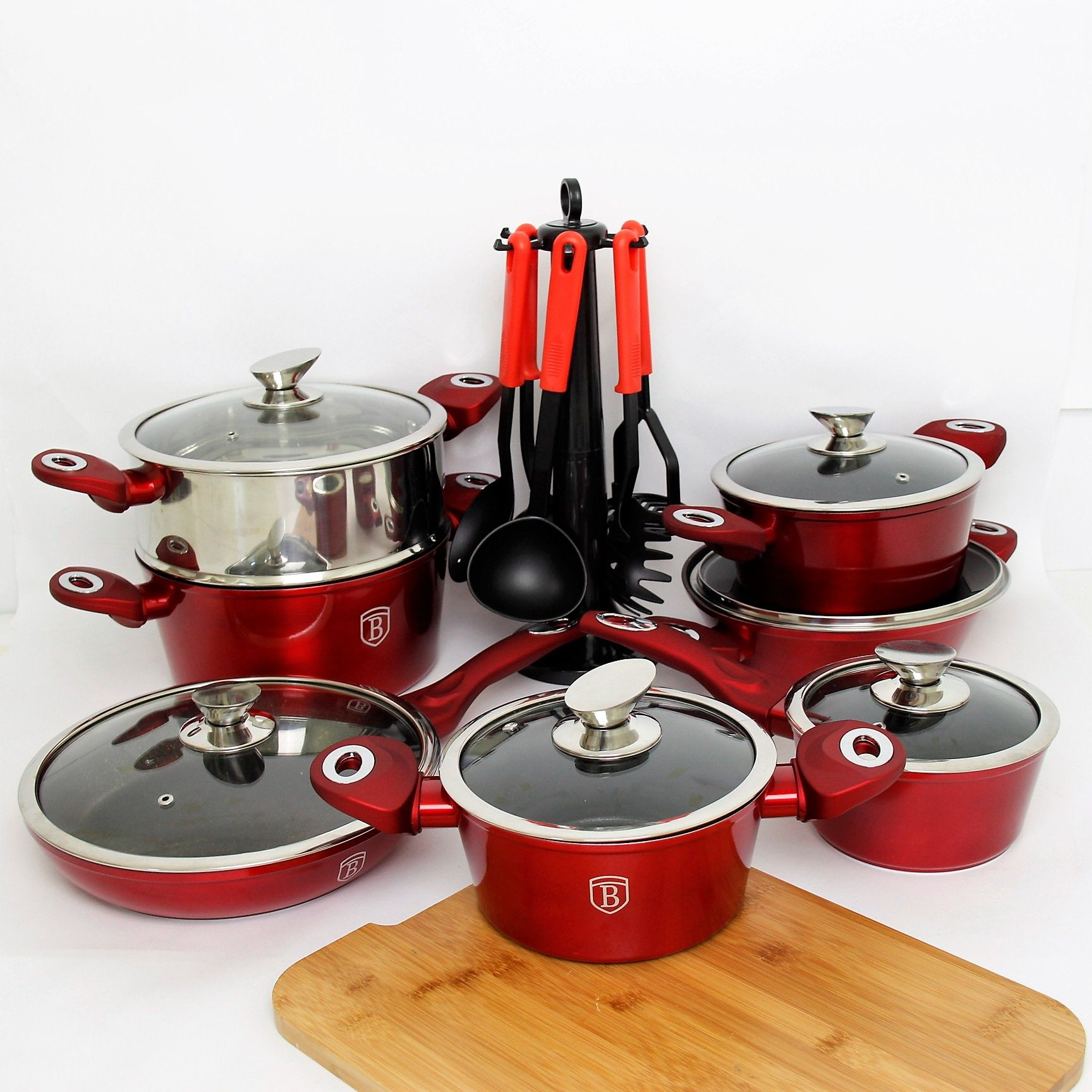 Service Granit 20 Pieces Borlinger House Rouge Kitchen