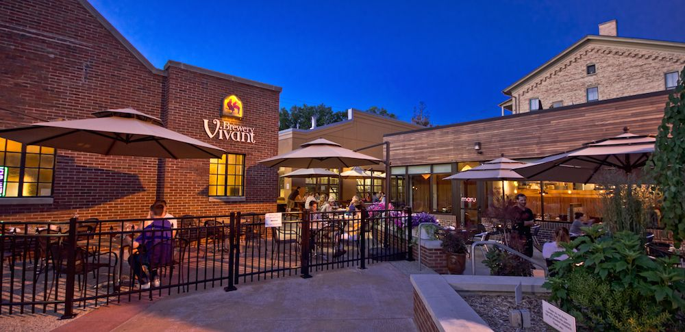 Built into an old funeral home and chapel vivant is a