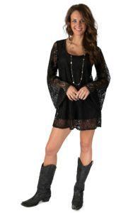 Mezzanine Women S Black Lace Long Sleeve Dress Black Lace Long Sleeve Dress Cowgirl Dresses Western Dresses