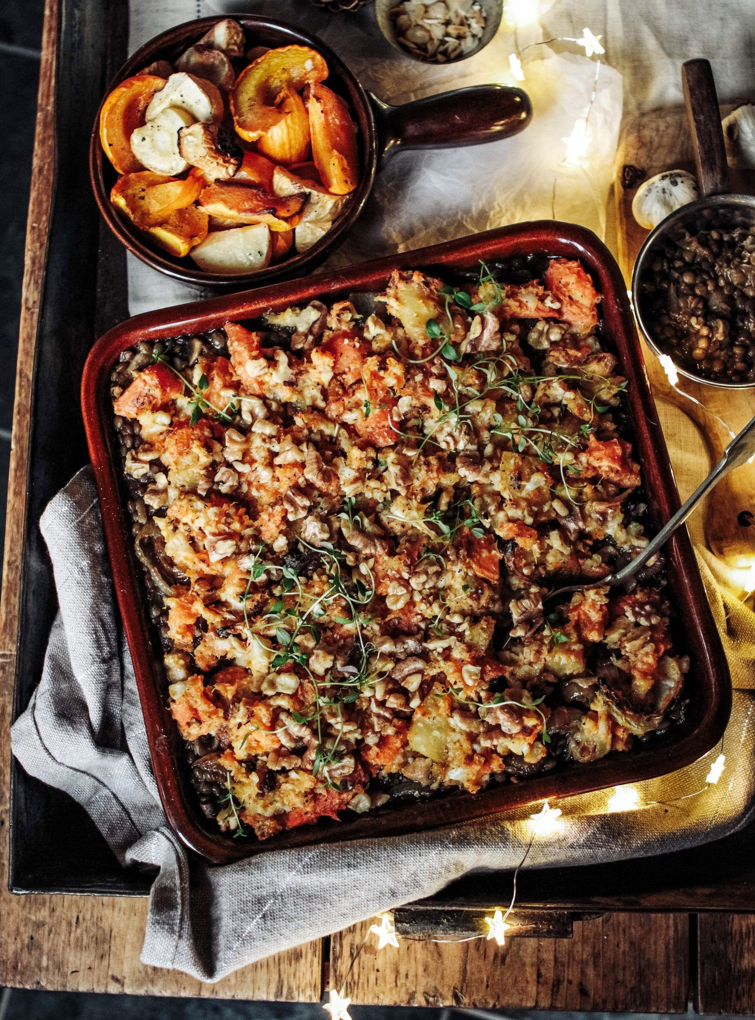 The Ultimate Winter Lentil & Roast Veg Bake - Rebe