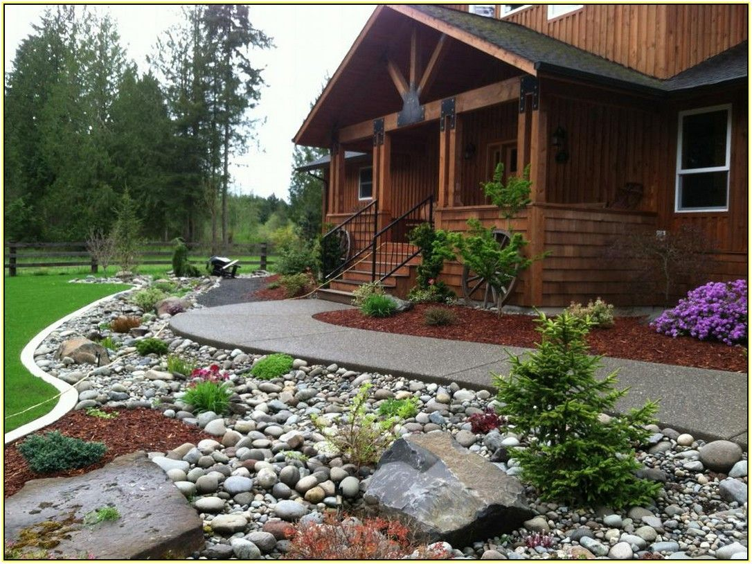 Perfect Rock Landscaping Ideas for Front Yard | Paisagismo ...