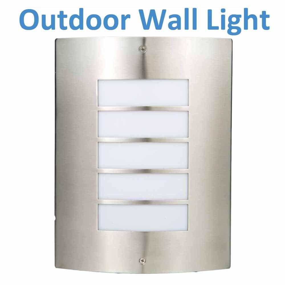 Lu v stainless steel wall light outdoors