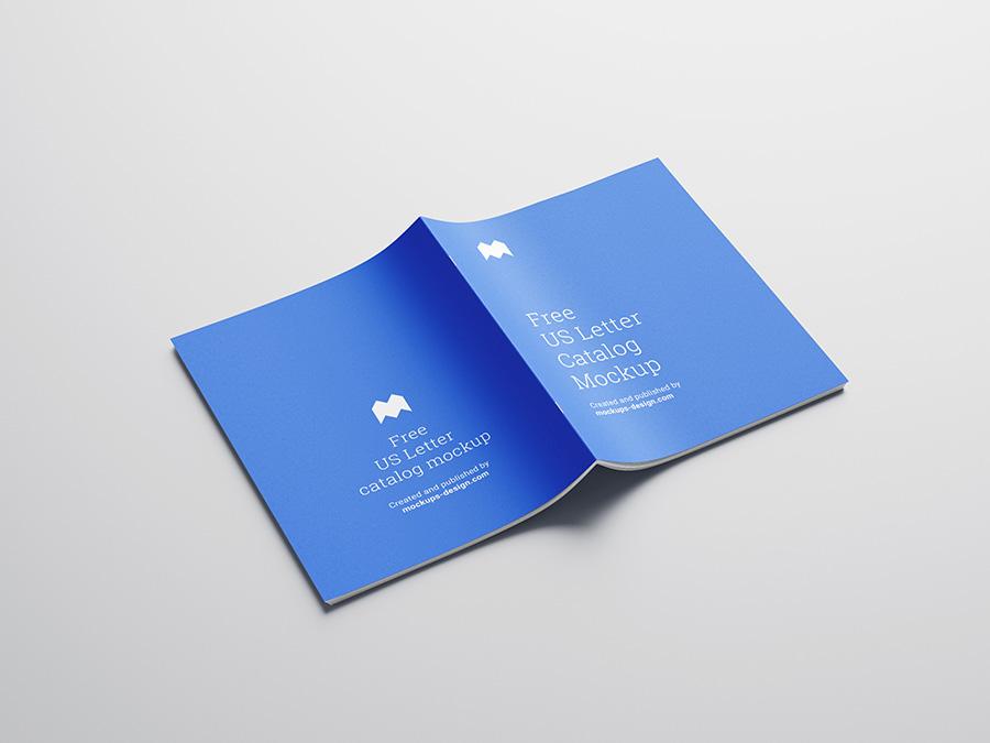 Free Us Letter Catalog Mockup Mockups Design Brochure Mockup Free Brochures Mockups Brochure