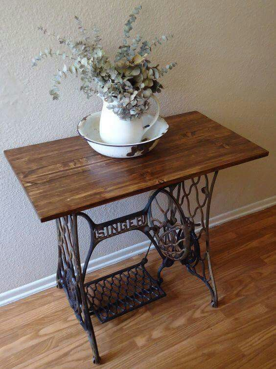 Pin by jolana baranova on remeseln z dreva pinterest sewing old sewing table up cycle sometimes a vintage piece needs a new piece of wood watchthetrailerfo