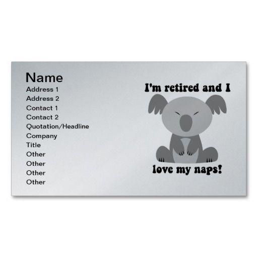 Retirement business card