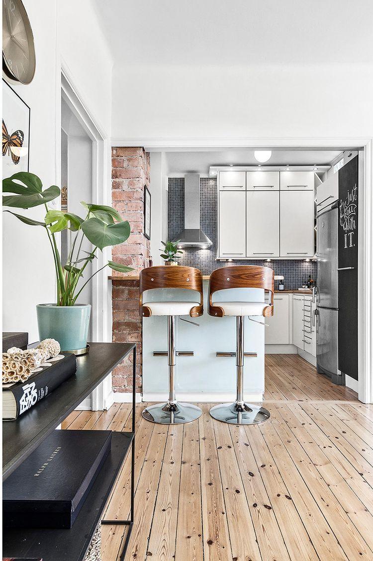 Meli Melo Suedois 32 Planete Deco A Homes World Sweet Home Design White Kitchen Wood Floors Wood Floor Kitchen
