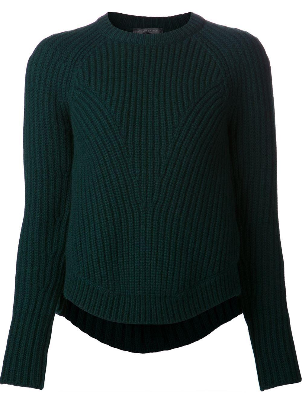 1cb84b9b5d95e0 Alexander Mcqueen Thick Ribbed Sweater - Hirshleifers - Farfetch.com ...