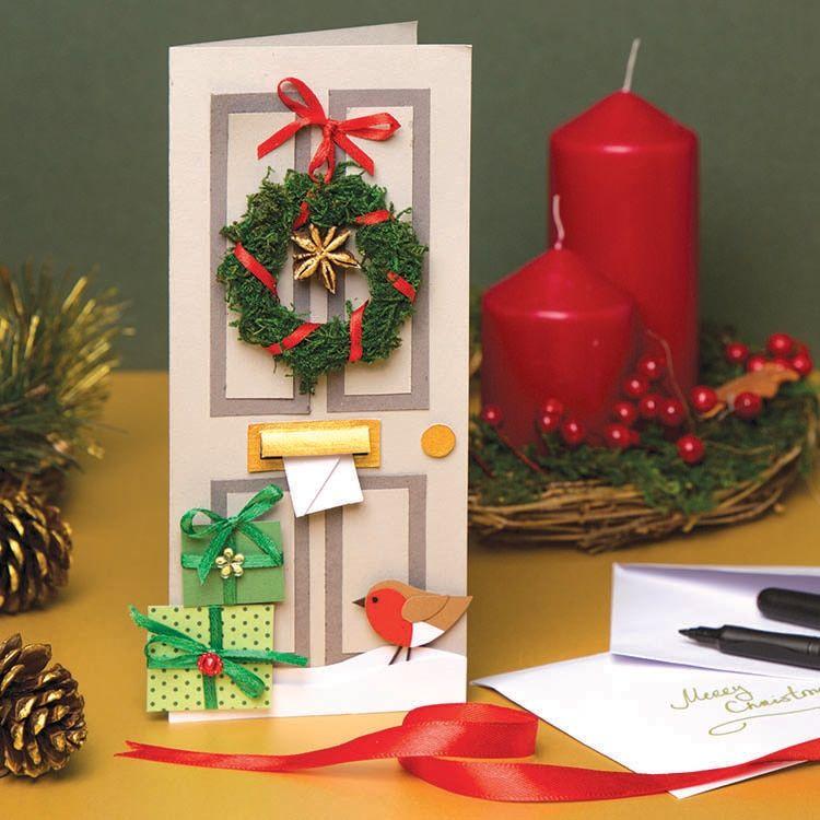 Christmas Door Card   Free Craft Ideas   Baker Ros