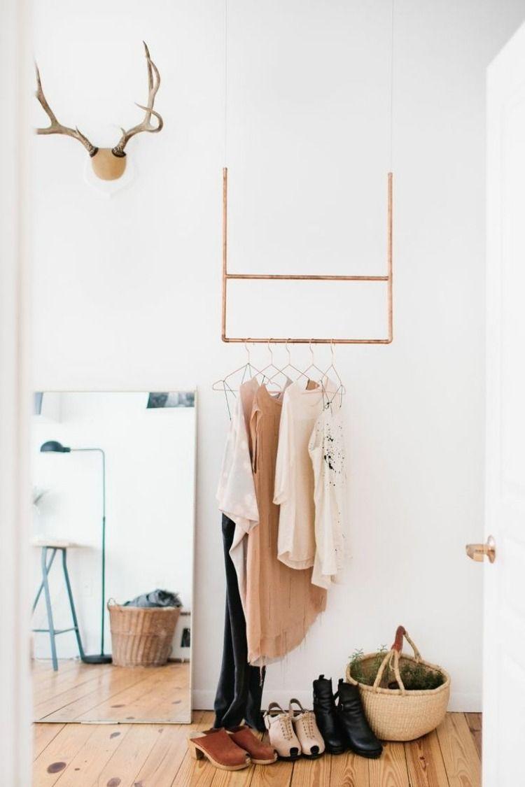Elegant Kleiderstange statt Kleiderschrank Ideen f r Modeliebhaber