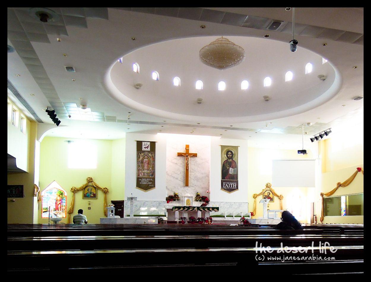 Dubai |        Saints Peter and Paul Catholic Church is pretty small compared to Dubai's St. Mary ..
