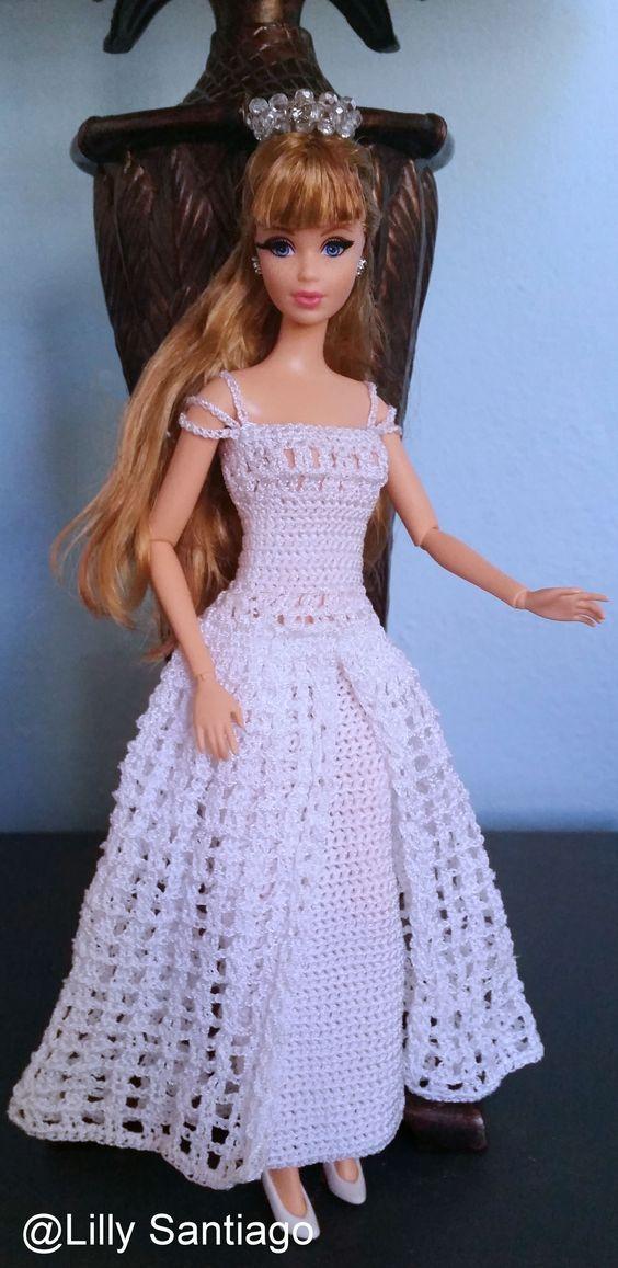Pin von Gloria auf vestidos | Pinterest | Barbiekleidung, Barbie und ...