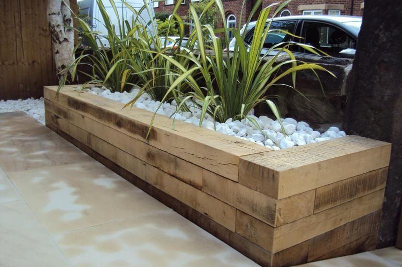 New page   Raised garden beds, Garden beds, Railway sleepers