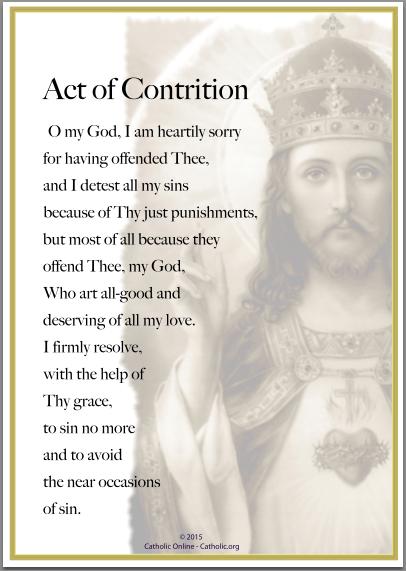 Prayers - Act of Contrition (PDF) | FREE Ship $49 | Catholic