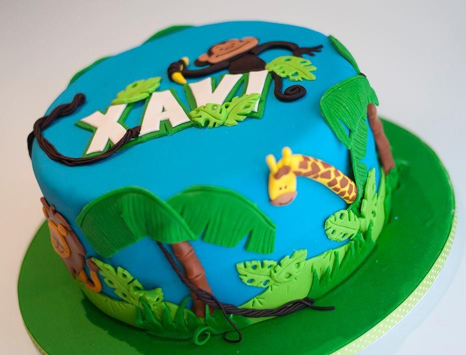 Jungle animals cake - Torta de animales de la selva ...