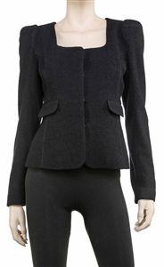 navy boucle jacket- max studio