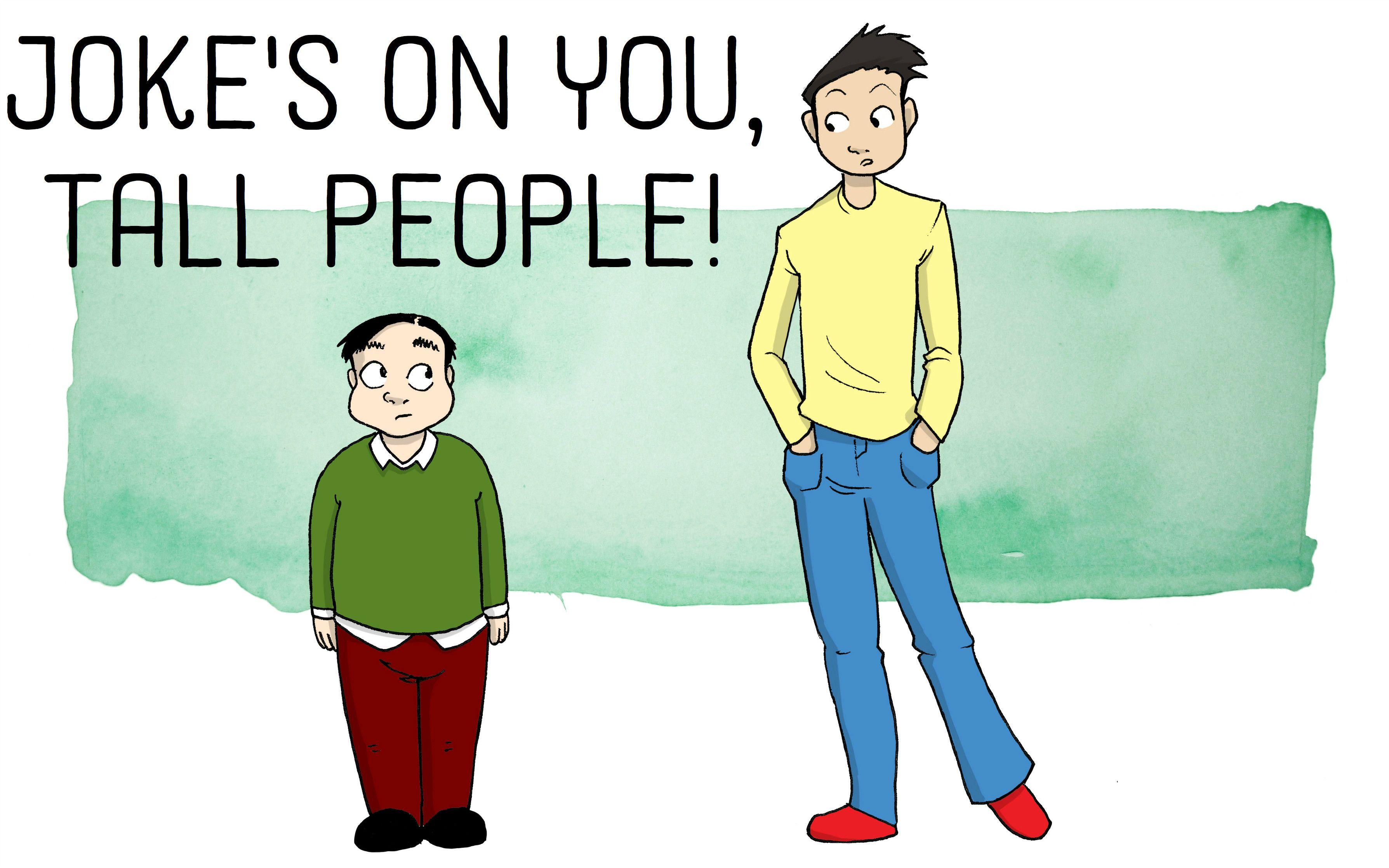 36 Funny Tall People Jokes | Tall people, Funny jokes